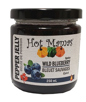 Hot Mamas Wild Blueberry Jelly 250ml